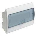 HAGER Щит навесной Сosmos 1 ряд 8 модулей прозрачные двери (VD108TD)