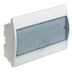 купить HAGER Щит навесной Сosmos 1 ряд 8 модулей прозрачные двери (VD108TD)