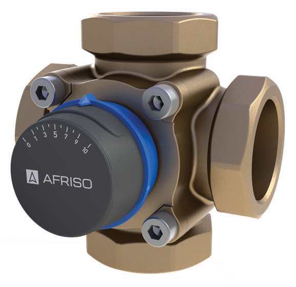 "AFRISO ARV486 клапан 4-ходовой Rp 1 1/2"" DN40 kvs 26 (1348600)"