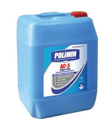 Polimin АС 5 (канистра 5 л) Грунтовка для оснований с повышенным водопоглощением