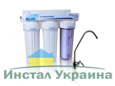 Трехступенчатая фильтрационная система проточного фильтра Aqualine MF3
