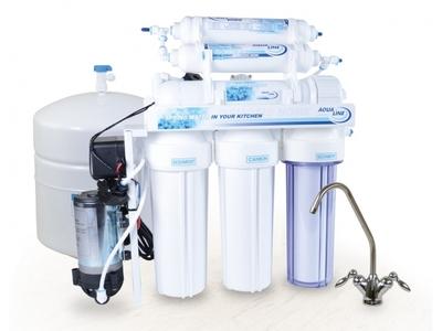Фильтрационная система обратного осмоса Aqualine RO 6 с Помпой цена