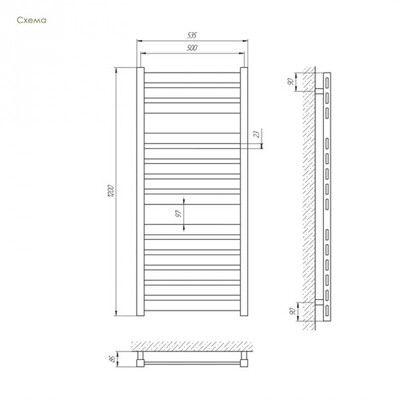 Полотенцесушитель Laris Бонд П14 500х1200 mm цена