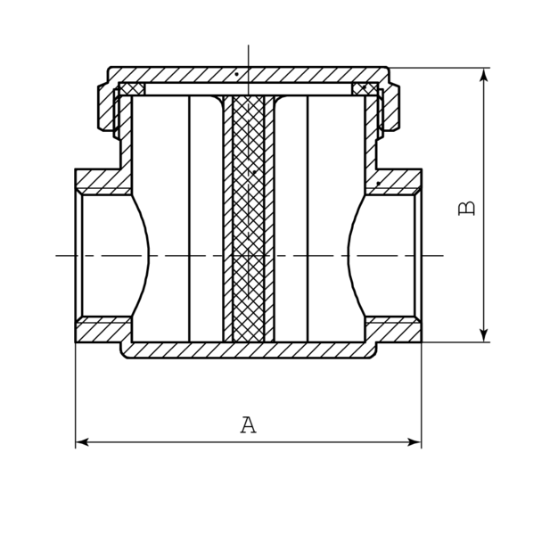 """Фильтр газовый FADO 1/2"""" (FG01)"""