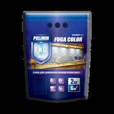 Polimin Fuga Color эластичная затирка для межплиточных швов (цвет коричневый)