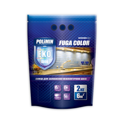 Polimin Fuga Color эластичная затирка для межплиточных швов (цвет карамель) цена