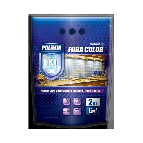 Polimin Fuga Color эластичная затирка для межплиточных швов (цвет персик)