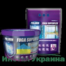 Polimin Fuga Superflex антигрибковая эластичная затирка для межплиточных швов (цвет светло-коричневый)