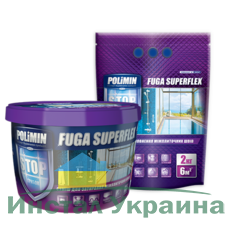 Polimin Fuga Superflex антигрибковая эластичная затирка для межплиточных швов (цвет карамель)