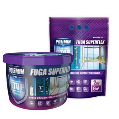 Polimin Fuga Superflex антигрибковая эластичная затирка для межплиточных швов (цвет светло-серый) цена