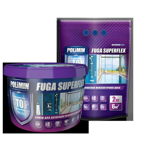 Polimin Fuga Superflex антигрибковая эластичная затирка для межплиточных швов (цвет жасмин)