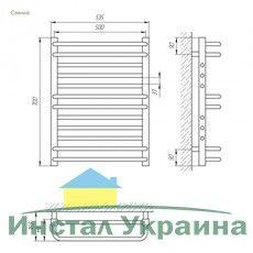 Полотенцесушитель Laris Гермес П12 500х700 mm