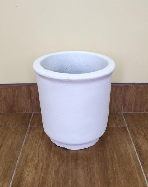 Бетонная ваза Глория 330х315 (белый)