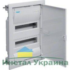 HAGER Щит встроеный VOLTA 2 ряда 24+4 модулей стальные двери, без клемм IP30 (VU24UA)