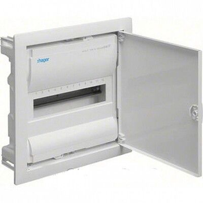 HAGER Щит встроеный VOLTA 1 ряд 12+2 модулей стальные двери, без клемм IP30 (VU12UA) цена