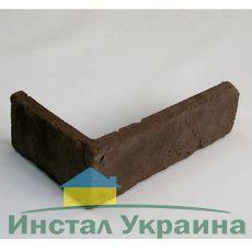 Угловой элемент из искусственного камня Клинкер бархат