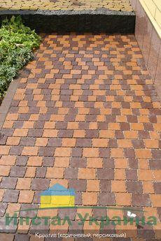 Тротуарная плитка Креатив (коричневый) (6 см)