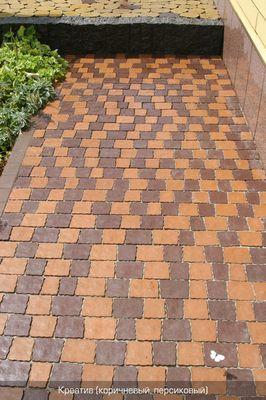 Тротуарная плитка Креатив (коричневый) (6 см) цены