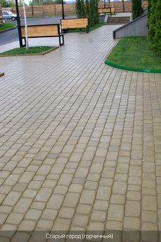Тротуарная плитка Старый город (горчичный) (8 см)
