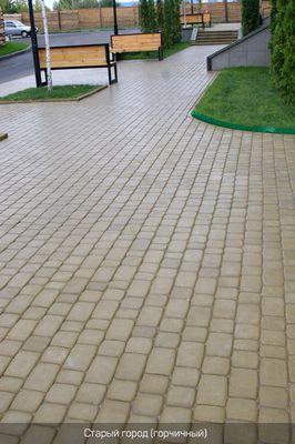 Тротуарная плитка Старый город (горчичный) (6 см) цены