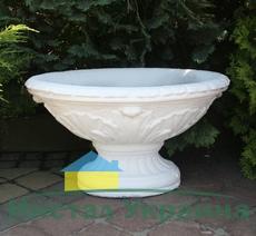 Бетонная ваза Стелла (белый)