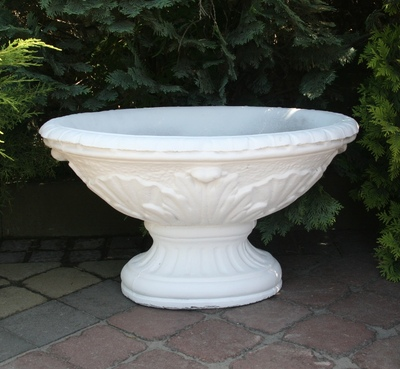 Бетонная ваза Стелла (белый) цена