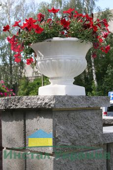 Бетонная ваза Стандарт 300х300 (черный)