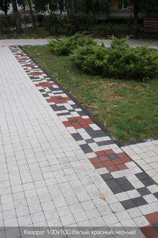 Тротуарная плитка Квадрат Малый 100х100 (белый) (6 см)