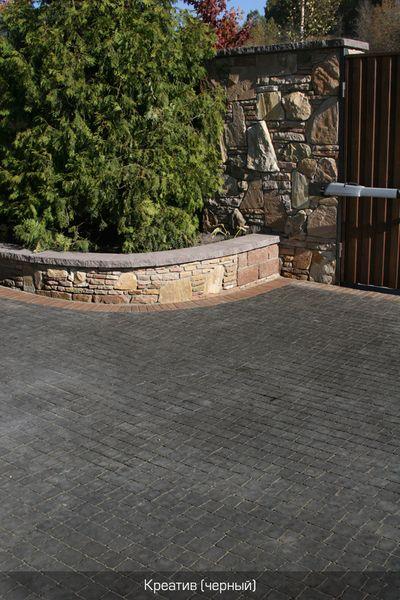 Тротуарная плитка Креатив (черный) (6 см)