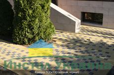 Тротуарная плитка Квадрат Малый 100х100 (желтый) (6 см)