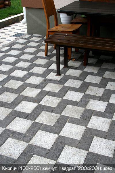 Тротуарная плитка Жемчуг (граниты на черном) (8 см)