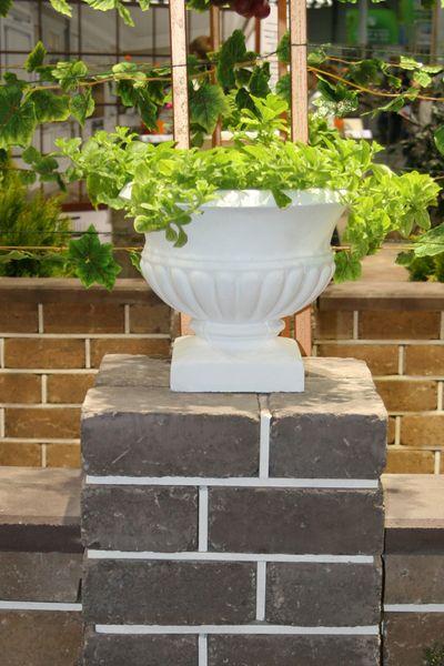 Бетонная ваза Стандарт 300х300 (белый)