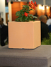 Бетонная ваза Куб малый 180х180х180 (белый)