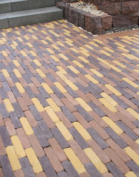Тротуарная плитка Кирпич Барселона 6 Антик 192х45 (серый) (6 см)