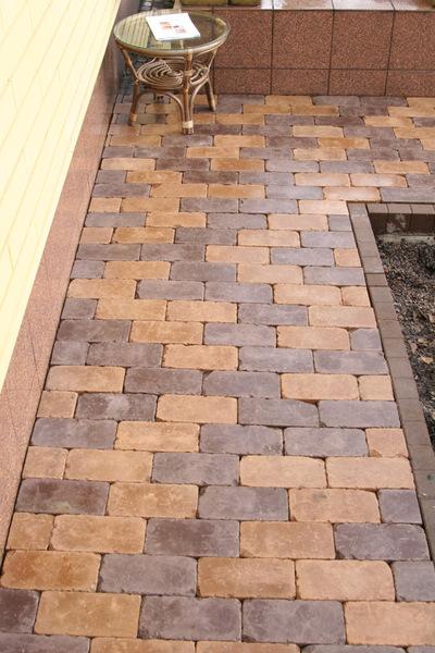 Тротуарная плитка Кирпич Роттердам Антик 250х120 (черный) (6 см)