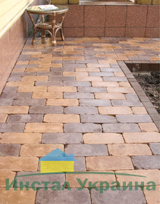 Тротуарная плитка Кирпич Роттердам Антик 250х120 (коричневый) (6 см)