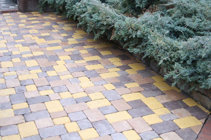 Тротуарная плитка Плац Антик (серый) (6 см)
