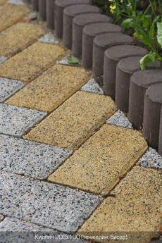 Тротуарная плитка Танжерин (граниты на желтом) (6 см)