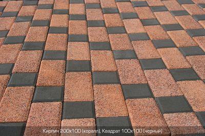 Тротуарная плитка Коралл (граниты на красном) (6 см) цена