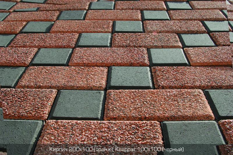 Тротуарная плитка Оранж (граниты на оранжевом) (6 см)