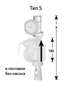 Монтажный комплект Meibes Тип S 1'' без насоса (61130)
