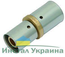 KAN Соединитель press двухсторонний редукционный с пресс-кольцом 40x3,5/26x3 K-080092