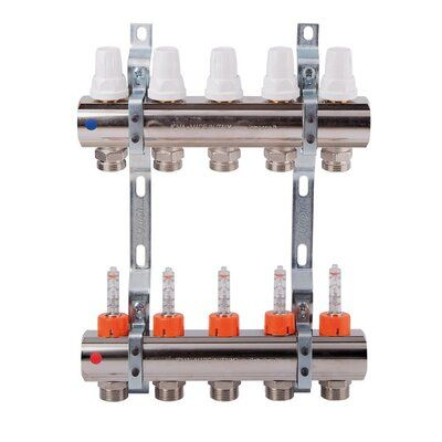 ICMA Коллектор с регулировачными вентилями и расходомерами 1х7 (87K013PR06) цена