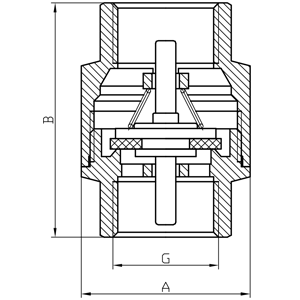 "Клапан FADO Classic 25 1"" (KL13) пластиковый шток"