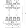 """Коллектор FADO с расходомерами 1""""х3/4"""" 5 выходов (KRV05)"""