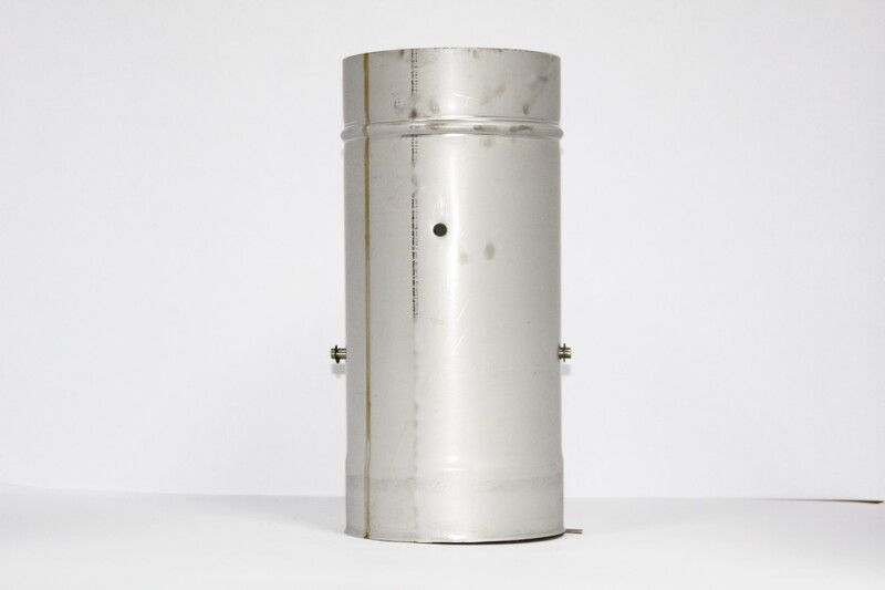 Кагла 0,8 мм из нержавеющей стали (AISI 321) с термоизоляцией в оцинкованной стали (AISI 321) ф100/160