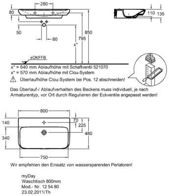 Умывальник Keramag myDay 800 x 480 мм с отверстием для смесителя без перелива цены