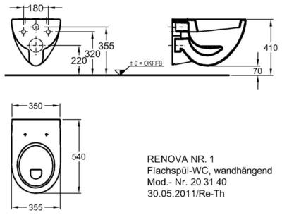 Унитаз Keramag Renova Nr. 1 подвесной 6 л цена