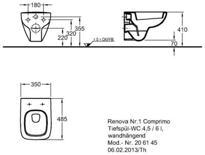 Унитаз Keramag Renova Nr. 1 Comprimo New подвесной 4,5/6 л цены