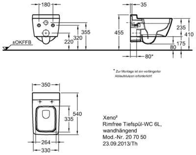 Унитаз Keramag Xeno2 подвесной 4,5/6 л без ободка цена